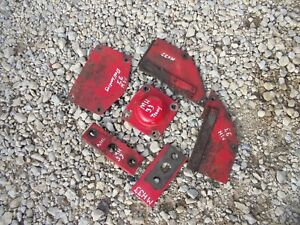 Massey Harris 33 Tractor 3 Mh Cover Holder Plate Pieces Flywheel