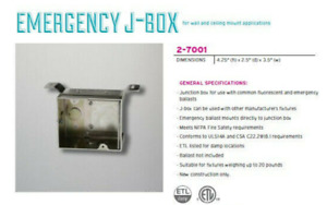 4 Units Oxygen Lightings Emergency J box Unique Mounting For Em In Wall New