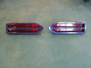 1970 70 Plymouth Road Runner Tail Light Assemblies Nice Used Pair