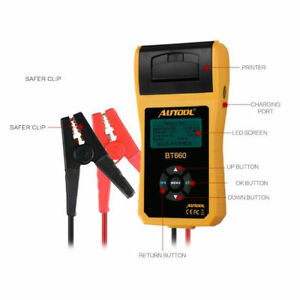 Autool Bt 660 Car Battery System Tester Cranking Charging Test With Printer