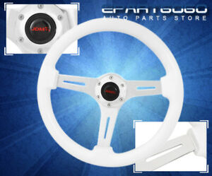 For Bmw 6 bolt Hole Classic White Wood Grain Steering Wheel 345mm 2 Dish Grip