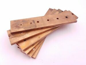 6pc Lot 2 X 5 16 Copper Square Bar Stock Plate Flat Bus Scrap Metal Recovery