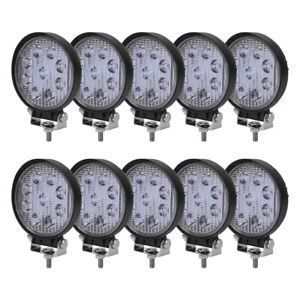 10x 4inch 27w Flood Led Work Light Fog Headlight Offroad Forklift Truck Atv