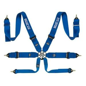 Sparco Competition Belt 6pt 6 Point P 3 Pull Down Safety Harness Blue