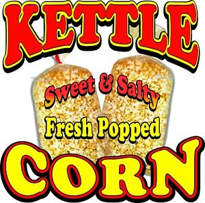 Kettle Corn Decal choose Your Size Food Truck Concession Vinyl Sign Sticker
