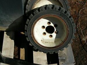 3 Clark Tm15 Forklift Wheels And Tires 18x7x12 1 8 Used Good Condition