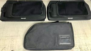 3 Tektronix Analyzer Logic Probes Black Soft Zipper Storage Protective Bag cases