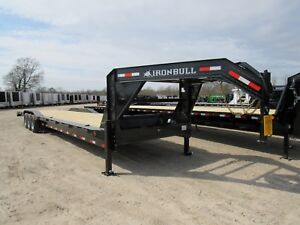 44 X 102 Gooseneck Car Hauler Equipment Trailer 3 7000 Axles sir Brand New