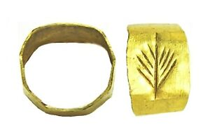 1st 3rd Century A D Ancient Roman Gold Finger Ring Victory Palm
