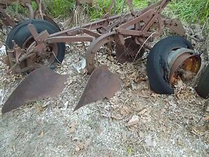 Farmall Ih 2 Xx 14 Bottom Pull Type Plow Rope Trip Rubber Tires Little Genius