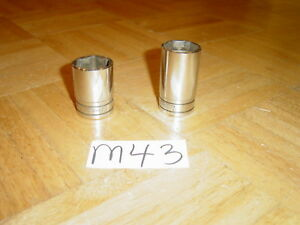 Snap On Tools 2 Piece 3 8 Dr 1 Inch 1 1 16 Oil Pressure Sender Switch Sockets