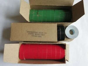 30 Rolls Of Nos Rotex Embossing Label Tape 1 2 X 144 Red Green Black