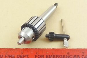 New Genuine Mt2 Jacobs 0 3 8 Capacity Tailstock Drill Chuck 4 Lathe