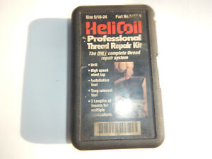 Opened Helicoil 5 16 24 Thread Repair Kit With Mandrel Drill Heli Coil