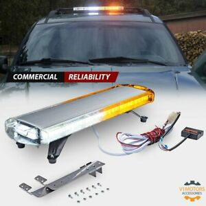 30 Super Bright 56w Led Light Bar White Amber Emergency Flash Warning Hazard