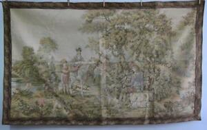 Stunning Large French Aubusson Verdure Style Tapestry 1720cm X 1060cm F