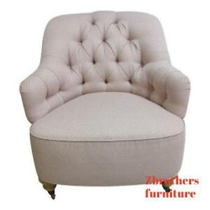 Ethan Allen Chesterfield Style Fires Side Lounge Club Living Room Chair B