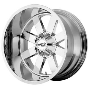 4 new 18 Inch 18x12 Moto Metal Mo962 8x165 1 8x6 5 44mm Chrome Wheels Rims