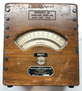 Weston Electrical Instrument Corp Vintage A c Volt Meter Model 155 Used