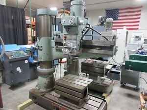 Sharp Industries Rd 1230 Radial Drill Press Machine Drilling 4 Arm 12 Column