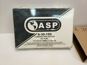 Asp Inc A 30 150 Combination Keying Kit For Toyota Family Lock Nos