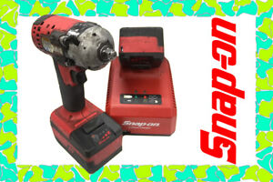 Snap On Ct8810b 3 8 Red Impact Wrench 18v Lithium With 2 Batteries Charger