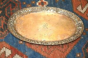 S Kirk Floral Repousse Oval Tray Sterling Silver 150 Af