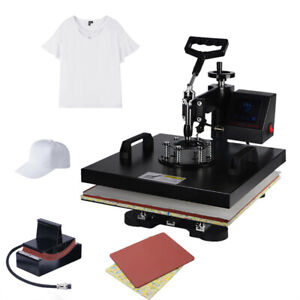 New 2in1 Digital 15 x15 Transfer Heat Press Machine Sublimation T shirt Diy