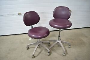 Lot Of 2 Adec Dental Furniture Stools For Operatory Patient Seating Best Price
