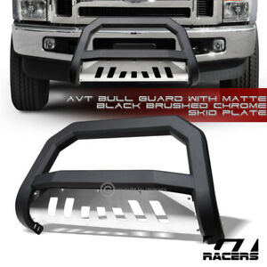 For 2008 2010 F250 F350 Superduty Matte Blk Avt Edge Bull Bar Bumper Guard Skid