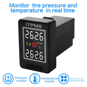 Car Lcd Tire Pressure Monitoring System Tpms 4 External Sensor For Toyotama1759