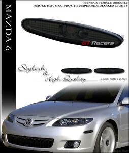 For 2003 2008 Mazda6 Mazda 6 Smoke Front Bumper Side Marker Reflector Lights K2