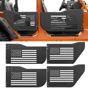 Front Rear Tube Tubular Doors Off Road Accessory Kit For Jeep Wrangler Jk 4 Door