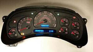 6c 05 06 2005 2006 Custom Carbon Fiber Chevy Tahoe Red Led Complete Cluster