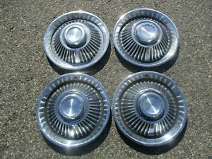 Genuine 1964 Pontiac Bonneville 14 Inch Hubcaps Wheel Covers