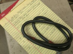 Vintage 1 Ga 42 Battery Cable Solid Copper Black Complete Cable