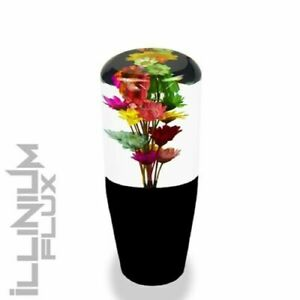 4 Inch Multicolor Flower Bouquet Clear And Black Drift Shift Knob 1 2x20 K68