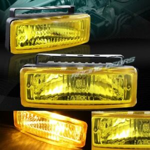 Universal 5 X 1 75 Rectangle Yellow Lens Fog Driving Bumper Lights Lamp switch