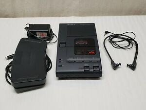 Sony Microcassette Transcriber M 2000 Footpedal Earphone Recorder Works Record