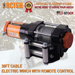 Orcish 3500lb Electric Winch Atv Utv Offroad Waterproof Boat Steel Cable Kits