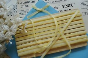 2y Vintage Antq French 3 16 Ombre Yellow Ribbon Work Flower Doll Hat Dress Trim