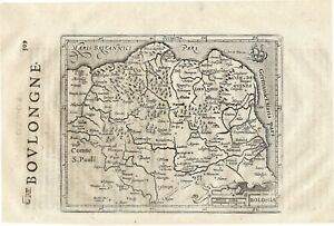1635 Small Mercator Map Boulongne France