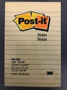 12 Pack Post It Notes 4 X 6 Lined Canary Yellow Pack Of 5 Pads