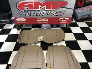 1999 2004 Mustang Coupe Roush 3 Piece Parchment Leather Rear Seat Covers