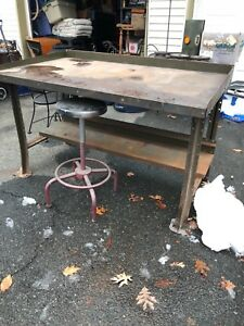 Vintage Industrial Table Workbench