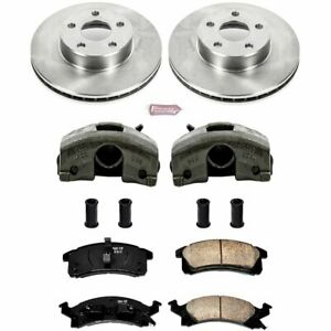 Powerstop 2 wheel Set Brake Disc And Caliper Kits Front For Chevy Kcoe3156