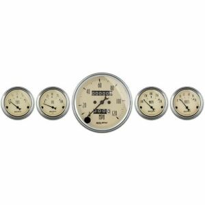 Auto Meter Antique Beige Analog Gauge Kit 1808