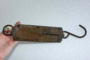 Antique Chatillons Improved 50 Lb Brass Hanging Spring Balance Scale Ny Working