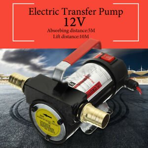 12v Portable Oil Diesel Transfer Pump Fuel Kerosene Self Priming 50l min