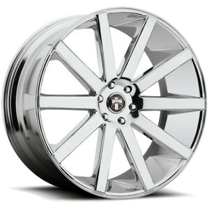 22 Inch Dub S120 Shot Calla 22x9 5 6x139 7 6x5 5 30mm Chrome Wheel Rim